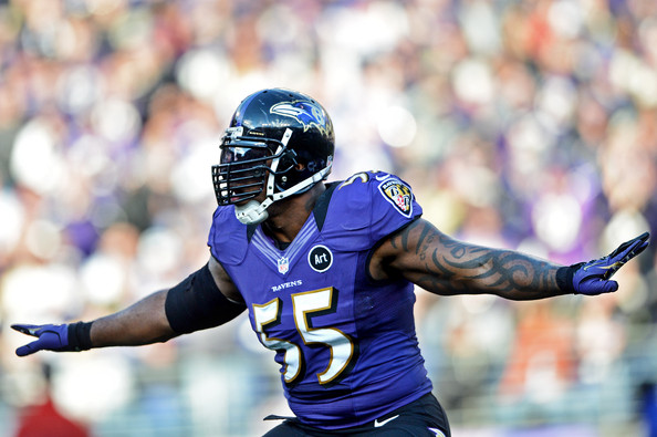 Terrell Suggs will need to keep containment on the outside.